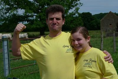 Em and Dino posing