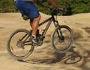 Carl jumping at the local BMX park