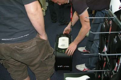 bumprints in the bontrager fit stool